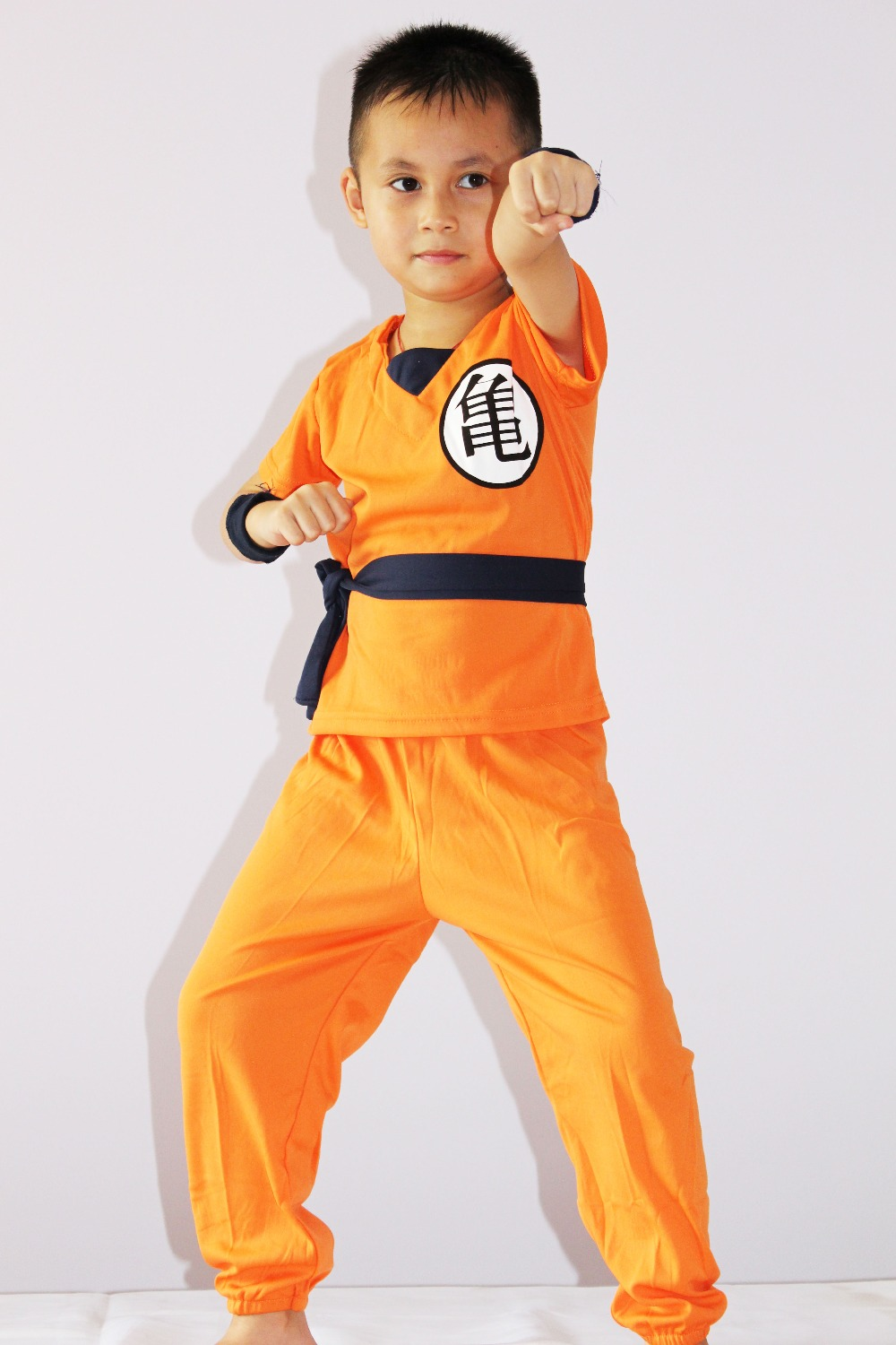 Tegneserie Dragonball 3-7år Boy Saiyan Rollespil cosplay, Halloween kostumer kid Star SON GOKU model tøj og gratis forsendelse