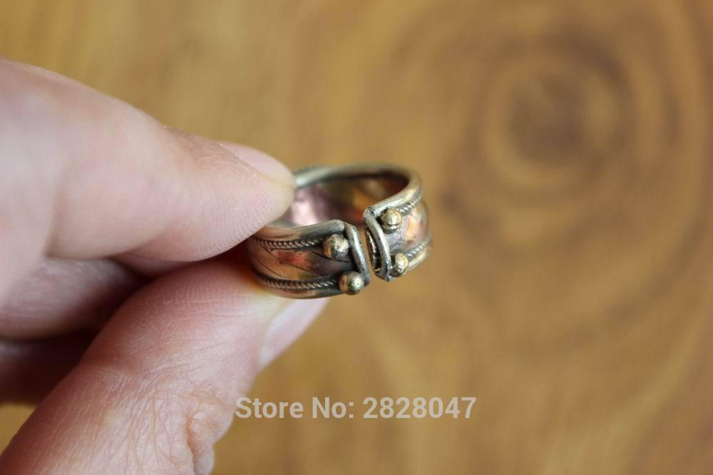 RG309 Etnisk tibetansk kobberinnlagt fargerik Onyx stein kvinner - Mote smykker - Bilde 5