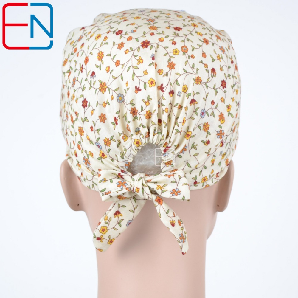064011b5a5f Hennar Brand Scrubs Caps Tie Back With Elastic Bands Fit For All Sizes Head  Dentist Scrub Caps Masks Surgical Doctor Nurse Caps -in Accessories from  Novelty ...