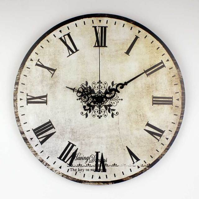 Accessories No 03 Clocks: Brand Absolutely Silent Vintage Large Decorative Wall