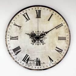 Marka absolutnie cichy vintage duże dekoracyjne zegar ścienny z wodoodporną tarcza zegara i z cyframi rzymskimi retro ściana zegarek dekoracyjny