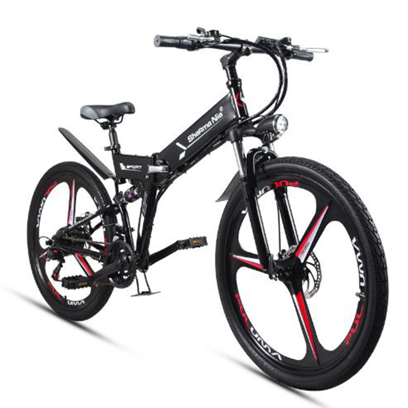 Electric Folding Bicycle 26 Inches 48V Lithium Battery Two-person Electric Vehicle