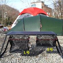 Portátil de hierro estante bolsa de almacenamiento para la barbacoa set de Picnic Cocina Artículos organizador de gran capacidad para Camping al aire libre herramientas Dropship