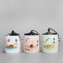 China Traditional White Ceramics Tea Caddies Tea Storage Jar Tea Set Accessories Tea Leaves Container Ceramic Organizer Tea Can new chinese style tight seal floral white ceramics tea caddies retro kung fu tea jar storage for home or teahouse