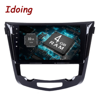 Idoing 2Din 10.2 8Core 2G+16/4+32G Android8.0/7.1 Car Multimedia Player For Nissan X Trail Qashqai Steering Wheel Fast Boot tv