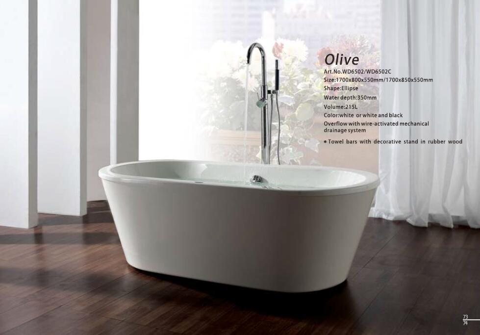все цены на 67' Fiberglass Freestanding Seamless Joint Bathtub Acrylic With ABS Composite Board Piscine Soaking White Black Option Bath 6502 онлайн