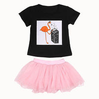 Newborn Enfant Baby Girl Outfit Clothes T-shirt Tops tutu Skirts Short Mini Children Kids Girls Summer Clothing Set Playsuits