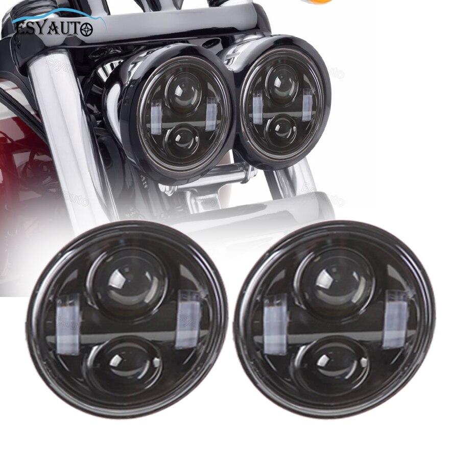 2 Pcs/Set 5 inch Headlights Hi/Lo Beam Headlamp 40W driving Lamp Car LED Motorcycle headlights For harley fat bob