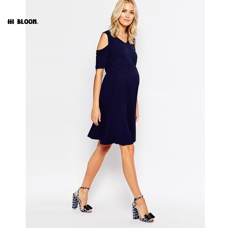 ФОТО Easter Gift O-Neck Formal Evening Gown For Pregnant Women Maternity Clothes Elegant Off-Shoulder Dress Office Lady Vestidos XXXL