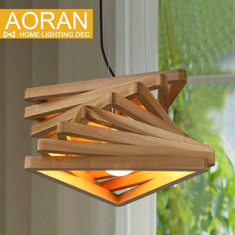 Kreatives Design Spiral Holz Pendelleuchte Speisesaal Hngelampen Rustikale Leuchte Wohnzimmer