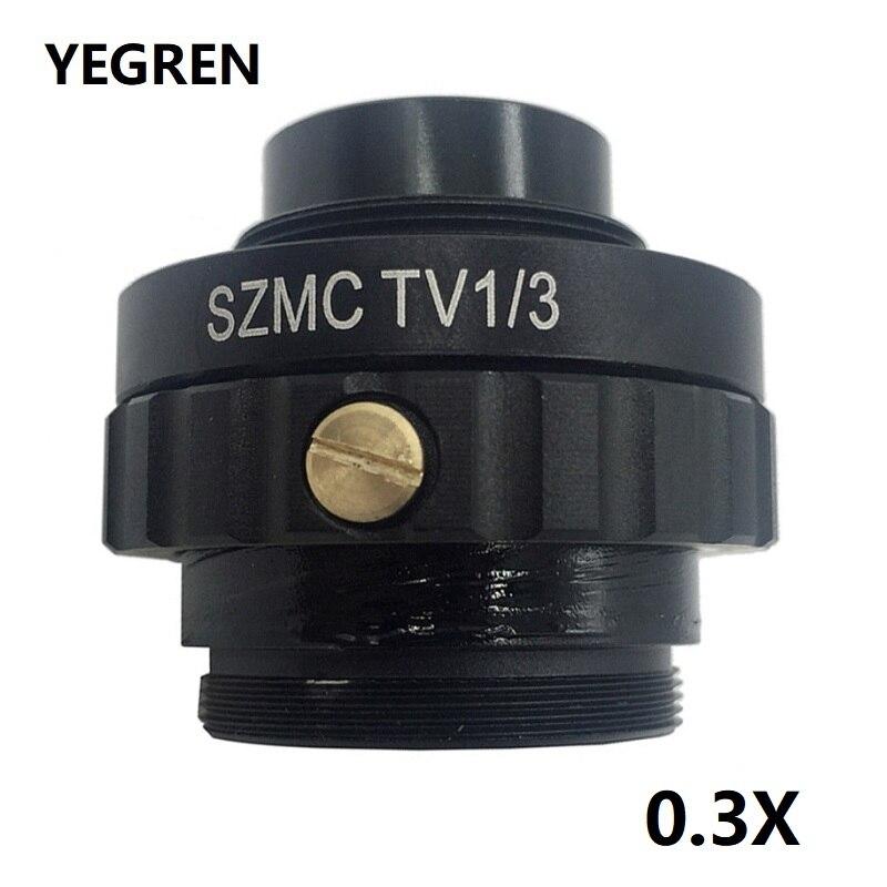 0.3X C adaptateur de montage réduire lentille pour Microscope stéréo trinoculaire 1/3 CTV CCD connexion avec caméra industrielle USB SZMCTV1/3