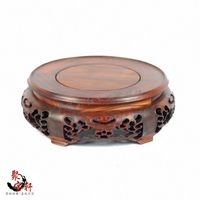 Household Act The Role Ofing Is Tasted Mahogany Wood Carving Handicraft Circular Base Of Buddha Stone