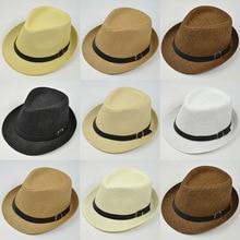 Ретро соломенные шляпы, топ джаз, клетчатая шляпа, весна-лето, котелок, кепки, классическая версия, шляпы, Повседневная пляжная шляпа для мужчин и женщин