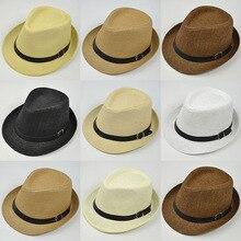 2018 sombreros de paja Retro Fedoras Top Jazz Plaid sombrero Primavera  Verano Bowler sombreros gorra versión 0cae7724eae