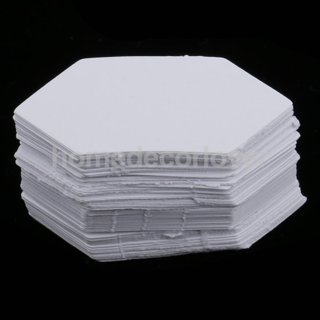 200pcs Hexagon Shape Blank Paper Quilting Templates English Paper ...