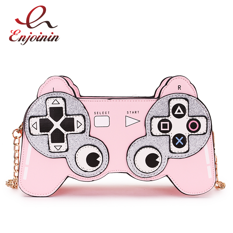 Fun Cartoon Image Design Game Stlyle Fashion Chain Shoulder Bag Ladies