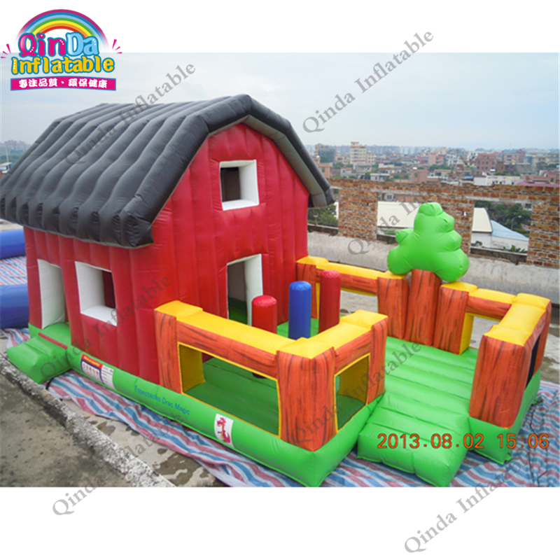 Christmas decoration 2017 inflatable combo bouncer castle, Inflatable christmas house for promotion недорого