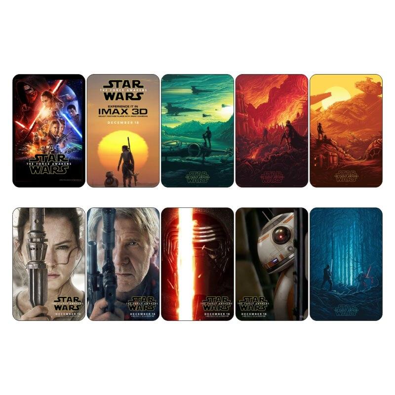 Star Wars De Kracht Wekt Movie Collectible Planner Scrapbooking Sticker Kaart Mini Poster Decor Credit Bus Id Card Stickers