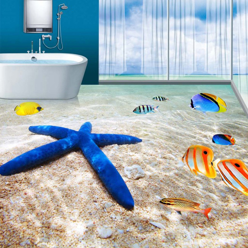 PVC Wear Non-slip Waterproof Thickened Self-adhesive 3D Flooring Mural Wallpaper Bathroom Kitchen Living Room 3D Tile Wallpapers free shipping 3d living room dining room kitchen bathroom foyer waterproof self adhesive fish flooring wallpaper mural fh 023