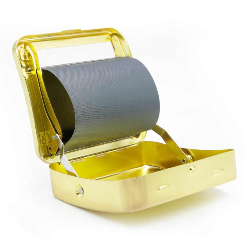 3 цвета металлическая сигарета табачные Чехлы для самокруток металлическая машина Роликовая Коробка дымогенератор травяной кальян дым