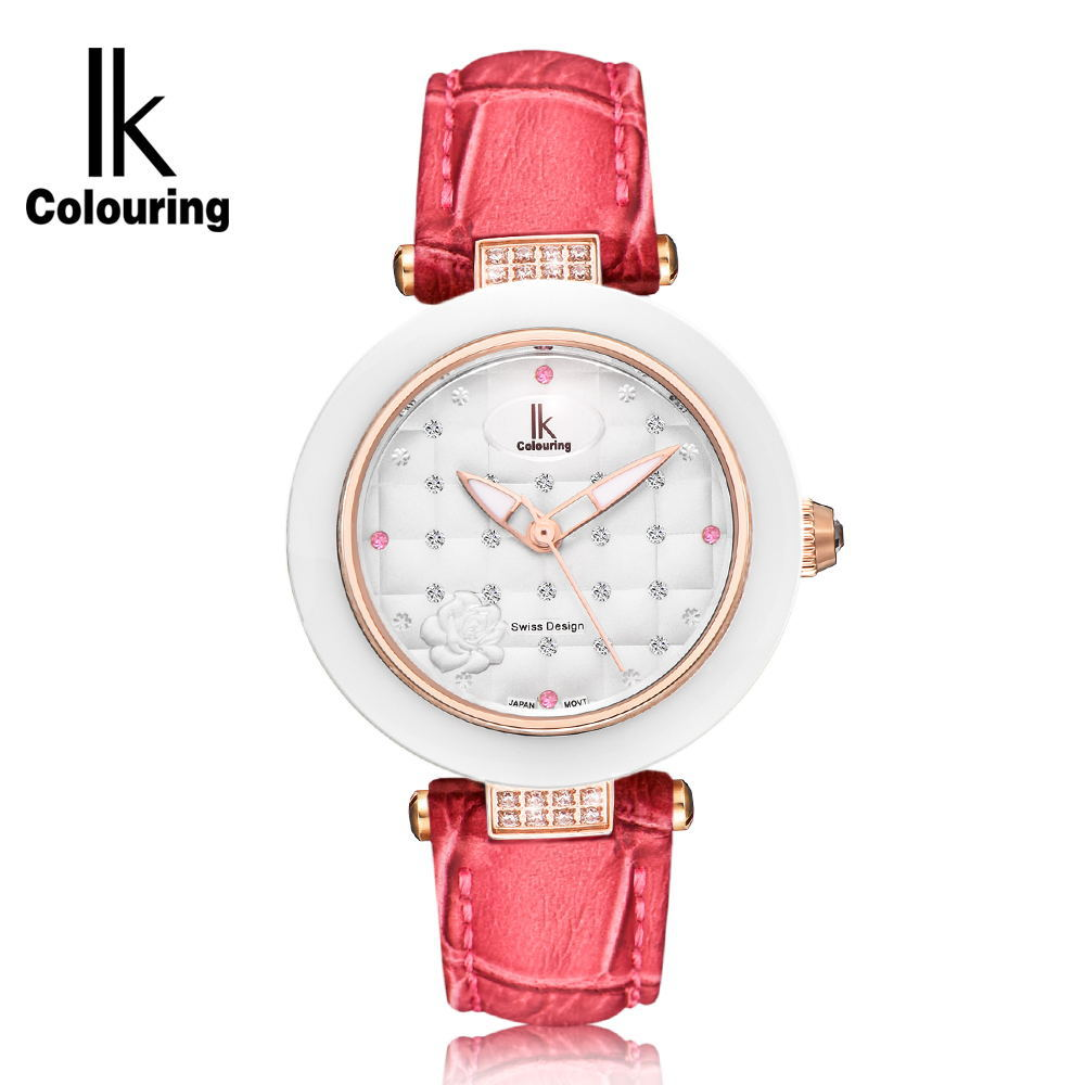 IK Apaqi female watch diamond fashion table waterproof diamond drill quartz ladies watch wecin f5049 female quartz watch with diamond decoration golden watch case