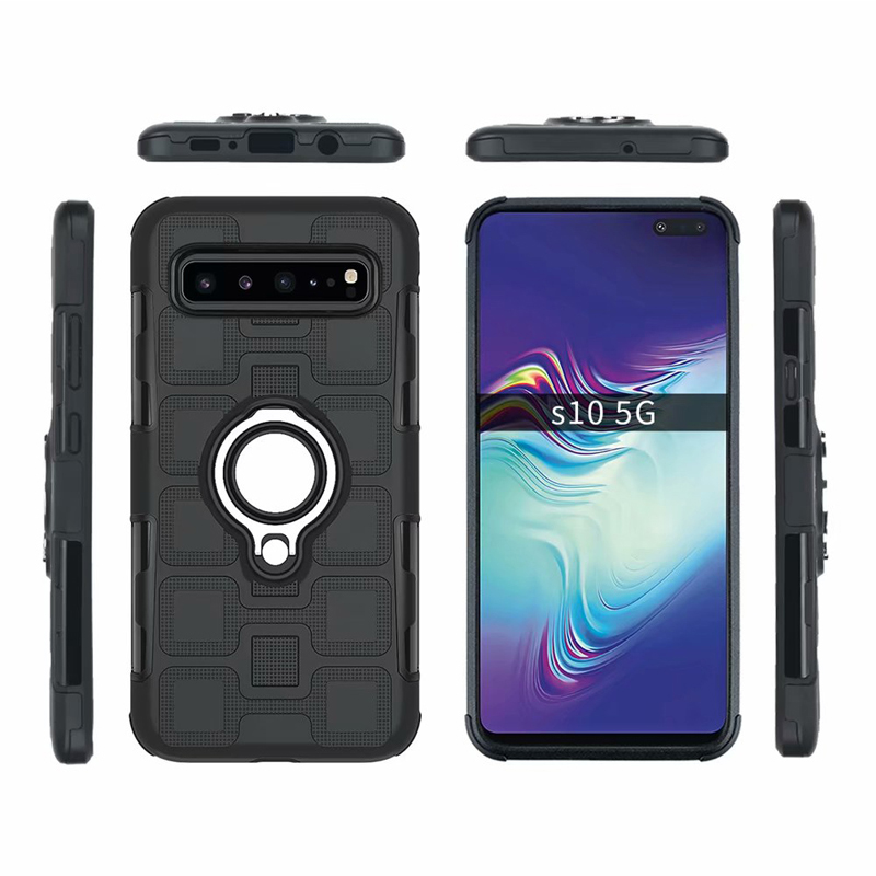 Luxury Armor Case For Samsung Galaxy S10 5G Plus S8 S9 S10 Plus Note 8 Note 9 Silicon Shockproof Phone Case Cover Anti Fall Case in Fitted Cases from Cellphones Telecommunications