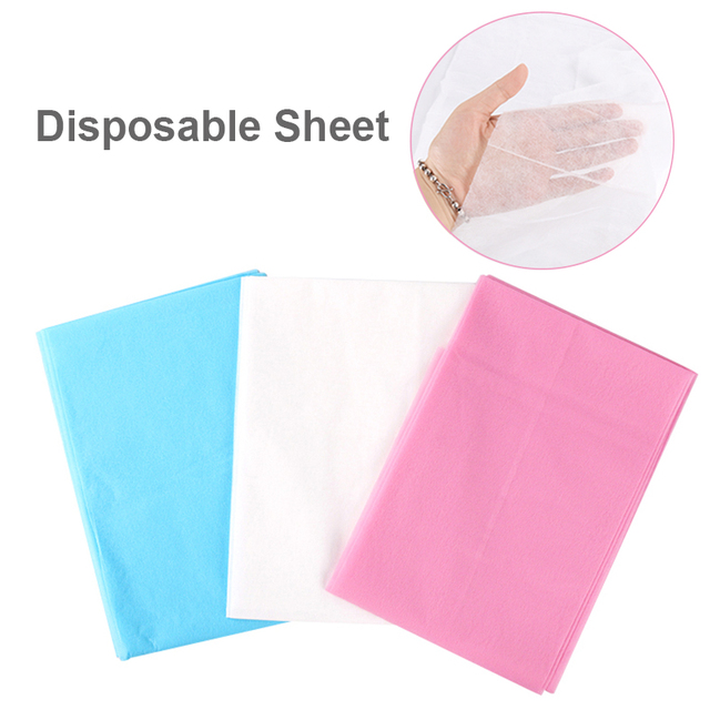 10 piunids/lote sábanas de cama desechables para salón de belleza de masaje impermeable lámina no tejida para accesorios de Microblading suministros de tatuaje