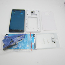 Full Housing Cover & Middle Frame  & Battery door Case & Screen Glass Replacement Parts for Samsung Galaxy SII S2 i9100