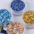 15g/Box Shinning 6 Colors Nail Glitter Powder Blue White Gold Silver Nail Sequins Tips Manicure Nail Art Decoration