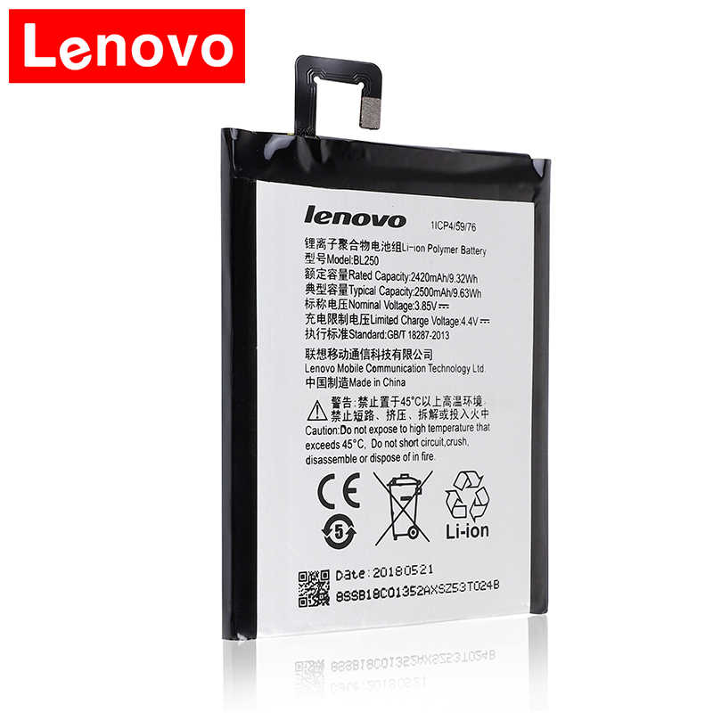 2018 Original Lenovo bl250 VIBE S1 S1c50 S1a40 BL250 battery Rechargeable Li-ion Built-in mobile phone lithium polymer battery