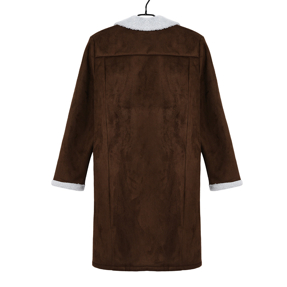 JAYCOSIN Men's Wool Warm Winter Trench Long Outwear Button Smart Overcoat Coats waterproof windproof winter jacket men 3