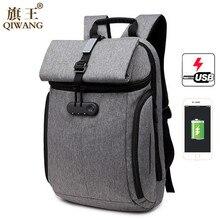 Здесь можно купить  Qi Wang Anti Theft Laptop Backpack USB Recharging Laptop Backpack  Men Fashion Travel Backpack Business Reflective Stripe  Backpacks