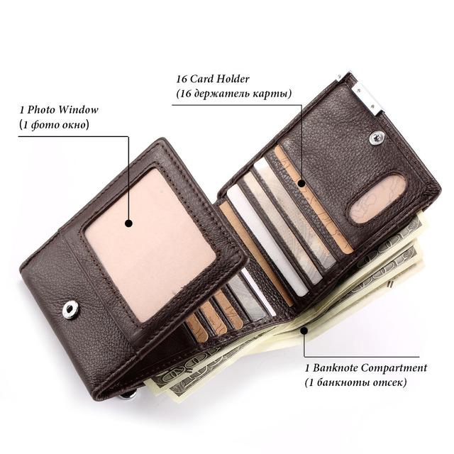billeteras nuevo cuero genuino pequeña billetera delgada hombres café Delgado monedero walet Multi-tarjetero carteira masculino regalo para novio