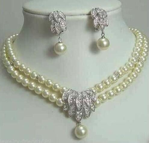 Selling Jewelry>>>Jewelery Pearl Necklace Earring SET