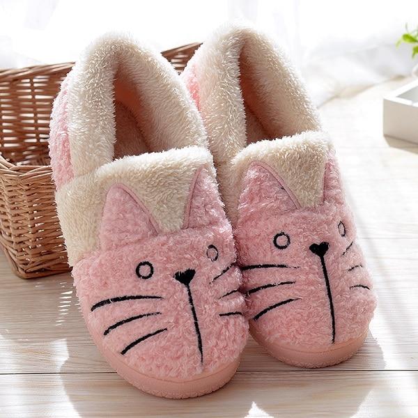 Cute Cat Warm Boots Women Family Christmas Cotton Winter Shoes Women boot Dropshipping