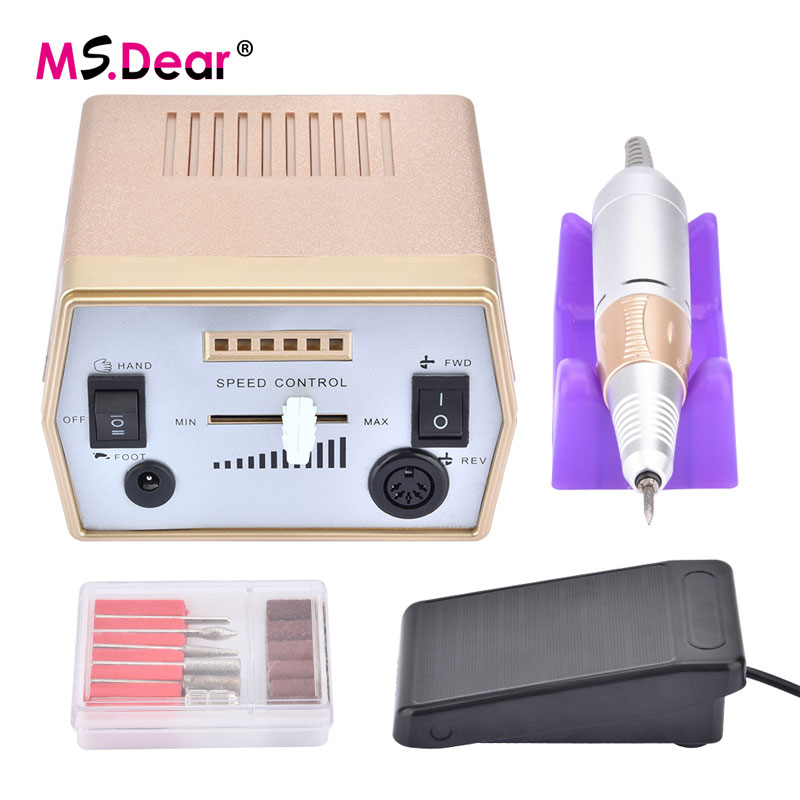 30000 RPM Electric Nail Art Drill Machine For Manicure Pen Set Drills Accessory Speed Control Pedicure Manicure Nail File Tools electric nail drill machine manicure pedicure portable nail art tools strong polishing machine cutter drill file bits set nails