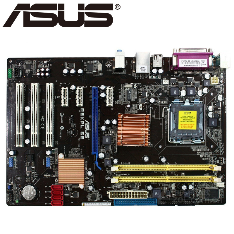Asus P5KPL SE Desktop Motherboard P31 Socket LGA For 775 Core Pentium Celeron DDR2 4G ATX UEFI BIOS Original Used Mainboard asus p5q e desktop motherboard p45 socket lga 775 for core 2 duo quad ddr2 16g uefi atx bios original used mainboard on sale