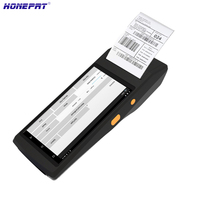 Bluetooth and WiFi Handheld pos terminal 5.5inch Touch Screen payment POS Android PDA with 2D scanner and printer