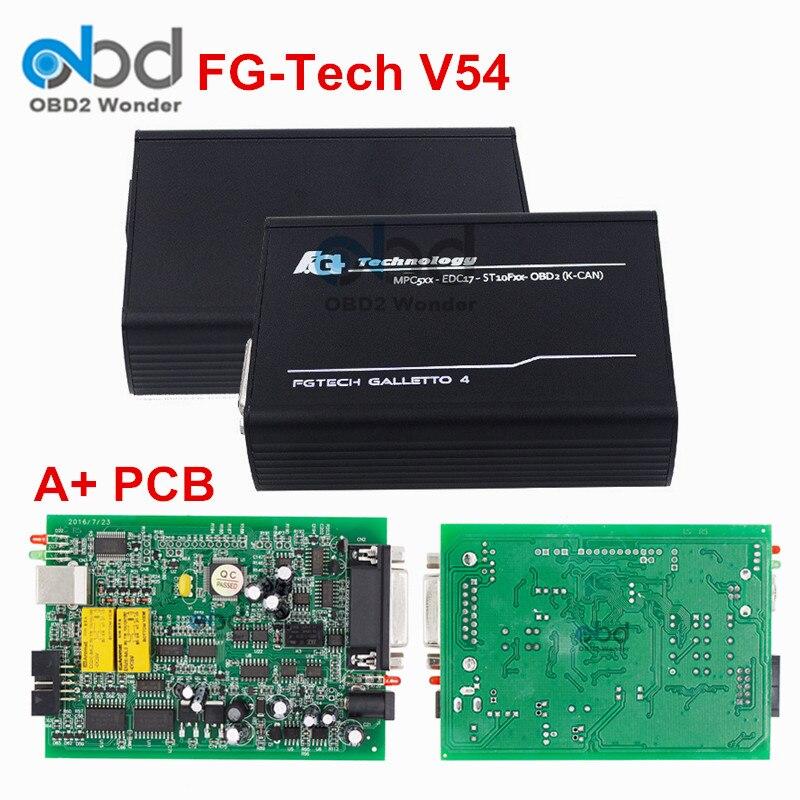 Цена за + PCB FGTECH V54 Чип ECU Инструмент настройки разблокирована версия FG Технология Galletto 4 матер ЭКЮ программист Поддержка OBD BDM Функция