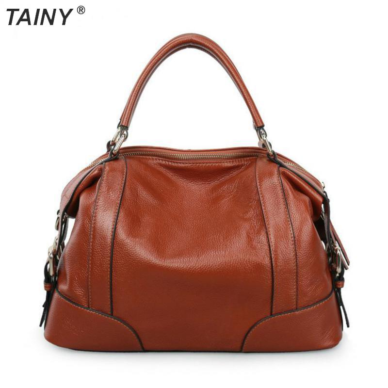 TAINY 2017 New Genuine Leather Cow Leather Shoulder & Handbags Women Bag 36cm цены