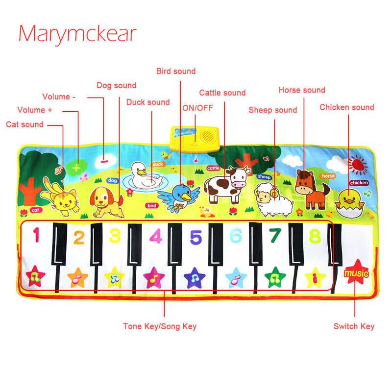 135X58CM Kích Thước Lớn Âm Nhạc Thảm Cho Bé Chủ Đề Động Vật Giáo Dục Học Đồ Chơi Trẻ Em Đồ Chơi Cho Bé Infantil Chơi Loại Nhạc Thảm