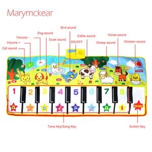 Image 4 - 135X58CM大サイズミュージカルマットベビー動物テーマ教育学習おもちゃ子供infantil演奏タイプ音楽マット