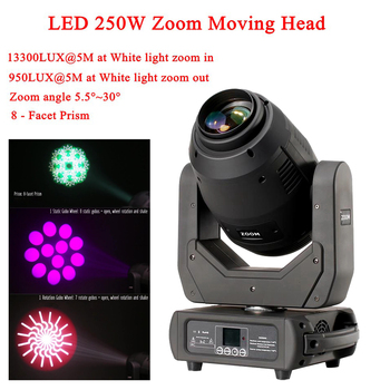 LED 250W Zoom Moving Head 3in1 Beam Spot Wash Light DMX512 16/18 CH Sound Disco Stage Lighting For DJ Pub KTV Night Party new stage light 260w led spot zoom moving head light 6 18 dmx channels beam spot wash 3in1 led strong light for party disco dj