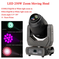 LED 250W Zoom Moving Head 3in1 Beam Spot Wash Light DMX512 16/18 CH Sound Disco Stage Lighting For DJ Pub KTV Night Party