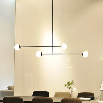 Kraj żelaza wisiorek światła nowoczesne europa północna kreatywne mleczny biały klosz szklany restauracja brzoskwinia gałęzie lampa wisząca
