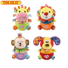 TOLOLO Baby Toy Tumbler Baby Rattles & Mobiles Plush Brinquedos Sound Paper Soft Cartoon Tumbler 0-18 Month Toy