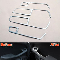 ABS Car Interior Door Window Lift Switch Panel Botton Cover Trim Frame Decoration For Porsche Macan 2014 2015
