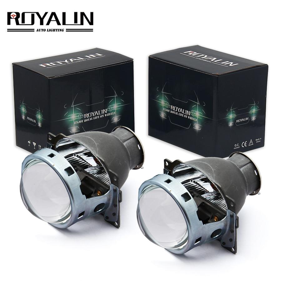 ROYALIN voiture Q5 phares lentille halogène Bixenon H7 métal projecteur 12 V LHD RHD pour Automobiles D2S D2R lampes externes rénovation