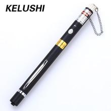 KELUSHI 5 мВт Металлическая Ручка стиль волоконно оптический визуальный дефектоскоп красный лазерный кабель тестер тестовый инструмент с 2,5 мм универсальный разъем