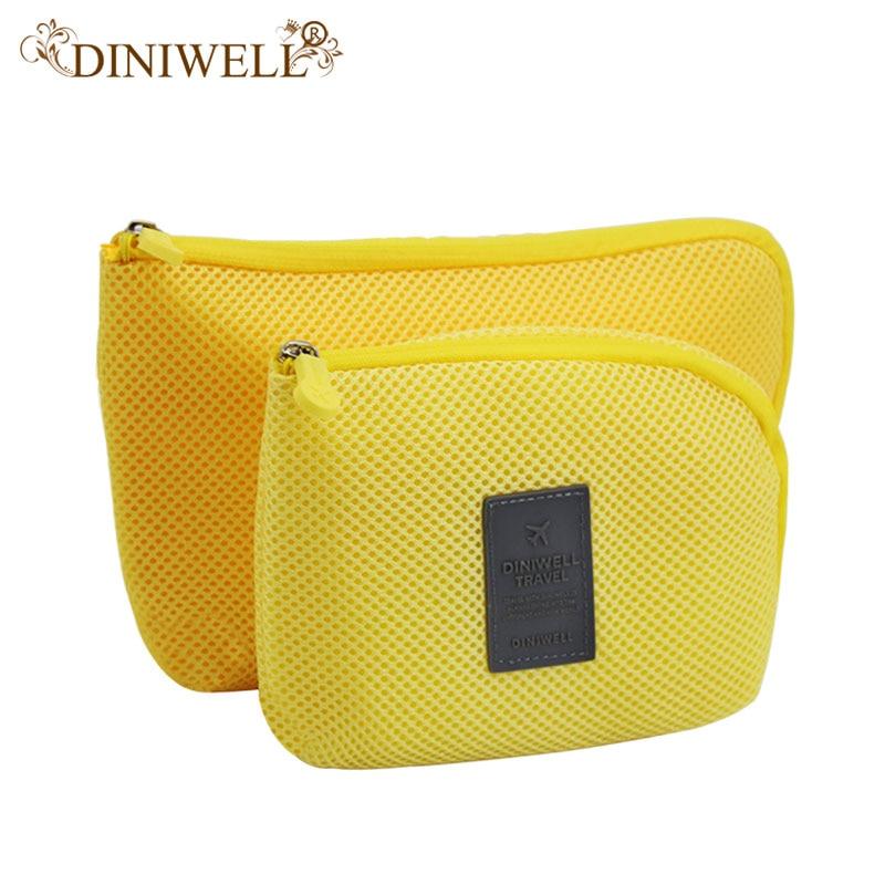 DINIWELL მოგზაურობის საცავის ჩანთა mesh ქსოვილი ციფრული გაჯეტის კაბელის USB კაბელის ყურის ყურის კალმის კოსმეტიკური ჩანთების ორგანიზატორი Shockproof